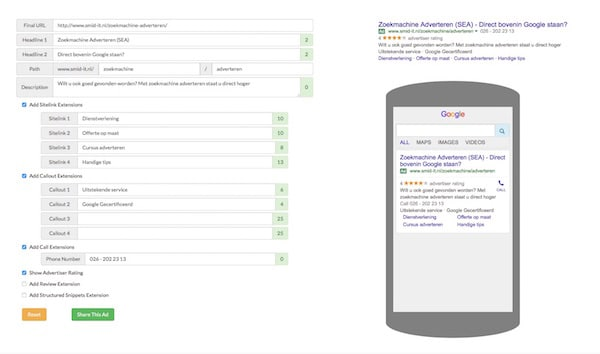 google Expanded Text Ads formaat