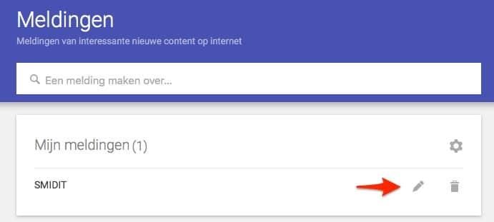 google alerts verwijderen